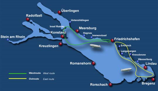 Zeppelinfahrt Bodensee